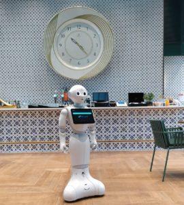 Pepper robot a Millenium Házában